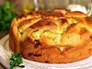Рецепта Питка Слънце на кифлички със спанак (с прясна мая)